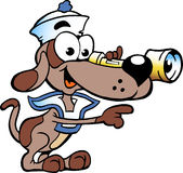 illustration of an Happy Sailor Watch Dog Royalty Free Stock Photo