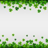 Happy Saint Patricks Day Background with clover leaves. Illustration of Happy Saint Patricks Day Background with clover leaves Stock Image