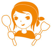 Illustration of a happy smiling cartoon chef Royalty Free Stock Images