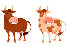 Illustration of a happy smiling cow Royalty Free Stock Photo