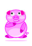 Illustration happy smiling little baby pig cartoon Stock Photos