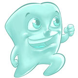 Illustration of a happy tooth Stock Photos