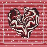 Illustration happy valentines day greetings with chocolate heart shape ,chocolate love background Royalty Free Stock Images