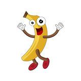 Illustration of happy yellow banana. Royalty Free Stock Photography