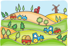 Illustration of harvest time Stock Image