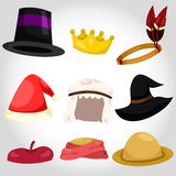 Illustration of hat and cap set Stock Photo