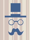 Illustration of hat glasses mustache Royalty Free Stock Photography