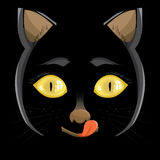 Illustration. head of a black cat Royalty Free Stock Images