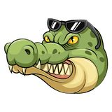 Head of an crocodile cartoon. Illustration of Head of an crocodile cartoon royalty free illustration