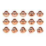 Illustration of head monkey character cartoon Stock Photography