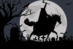 Illustration of a headless horseman Stock Photos