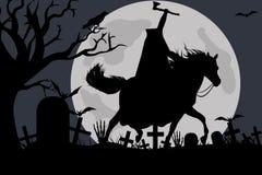 Illustration of a headless horseman Stock Photos