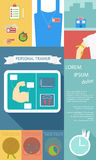 Illustration of health lifestyle infographic in flat designed Royalty Free Stock Image
