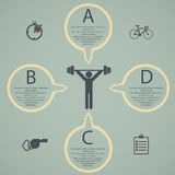 Illustration of health lifestyle infographic in flat designed Stock Image