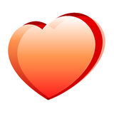 Illustration of a heart. Vector illustration of a heart on white Stock Images