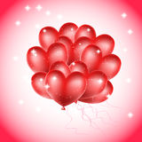 Heart balloons with stars Stock Photo