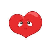 Illustration of a  heart character Stock Photography