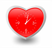 Illustration of heart and clock Royalty Free Stock Images