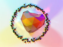 Illustration of a heart 3D rendering Royalty Free Stock Photo