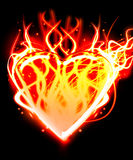 The illustration heart on fire. Also is shone Royalty Free Stock Photos