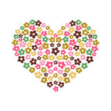 Illustration of the heart from flowers on a light. Background for design Stock Images