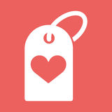 Illustration of a heart icon with a shopping label. Heart icon with a shopping label. Flat vector illustration EPS10 Royalty Free Stock Photo