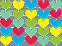 Illustration heart love. Colorful pattern Royalty Free Stock Images