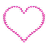 Illustration heart of roses. On white background Royalty Free Stock Photos
