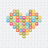 Illustration of heart on a white background Royalty Free Stock Images