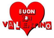 Valentine greeting card with heart in italian Stock Image