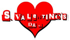 Valentine greeting card with heart in english Stock Image