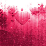 Illustration of hearts and stars Royalty Free Stock Images