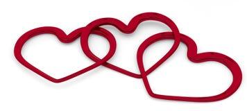 Illustration hearts Stock Photos