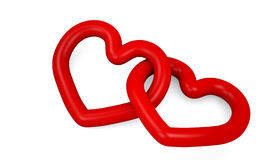 Illustration hearts. Illustration of two entwined hearts Royalty Free Stock Image