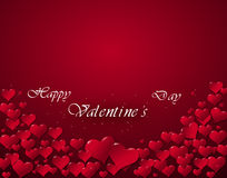 Illustration of hearts for a Valentine's Day Royalty Free Stock Photos