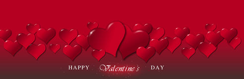 Illustration of hearts for a Valentine's Day Stock Image