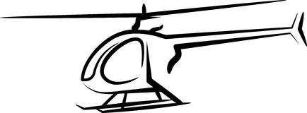 Illustration with a helicopter Stock Photos