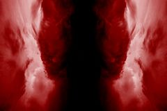 Entrance in to the hell. Illustration of the hell made of red flames Stock Photography