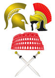 Soldiers and Colosseum  Royalty Free Stock Image