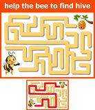 Help the bee to find hive. Illustration of Help the bee to find hive royalty free illustration