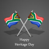 Illustration of Heritage Day Background Royalty Free Stock Photos