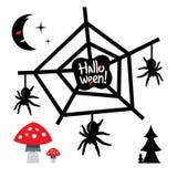Illustration heureuse de bande dessinée de concept de Halloween de vecteur illustration stock