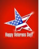 Illustration heureuse de carte de jour de vétérans illustration stock