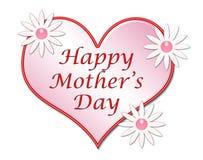 Illustration heureuse de coeur du jour de mère Images stock
