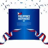 Illustration heureuse de conception de calibre de vecteur de célébration de Jour de la Déclaration d'Indépendance de Philippines illustration libre de droits