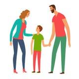 Illustration heureuse de famille illustration de vecteur