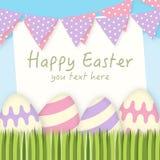 Illustration heureuse de fond de Pâques Images libres de droits