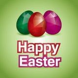 Illustration heureuse de Pâques d'oeufs polygonaux illustration stock
