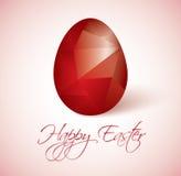Illustration heureuse de Pâques d'oeufs polygonaux illustration de vecteur