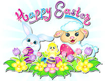 Illustration heureuse de papier peint de Pâques images libres de droits